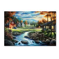Chuck Black 'Country Living' Canvas Art