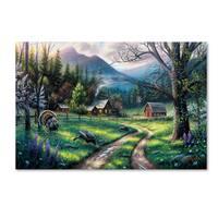 Chuck Black 'Bear Creek Ranch' Canvas Art