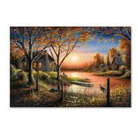 Chuck Black 'An Autumn Sunset' Canvas Art
