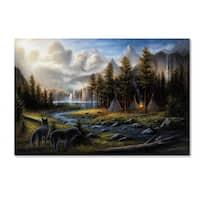 Chuck Black 'Wild America' Canvas Art