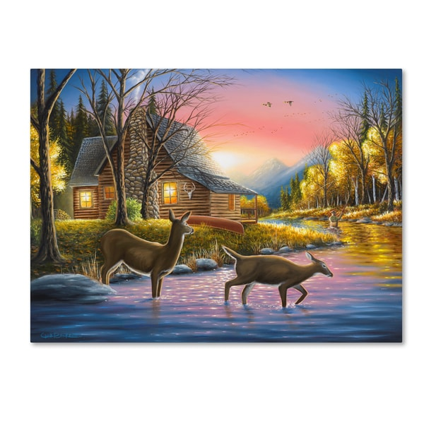 Chuck Black 'Rivers Crossing' Canvas Art