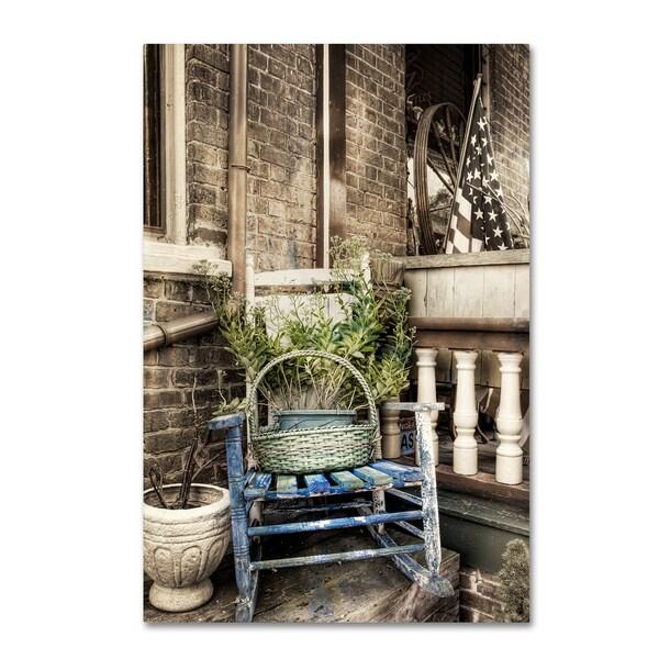 Bob Rouse U0026#x27;Rocking Chair Bwu0026#x27; Canvas Art