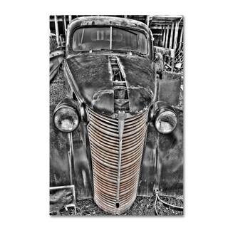 Bob Rouse '038 Chevy Sedan Bw' Canvas Art