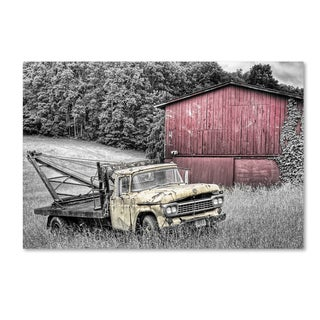 Bob Rouse 'Yellow Truck Bw' Canvas Art