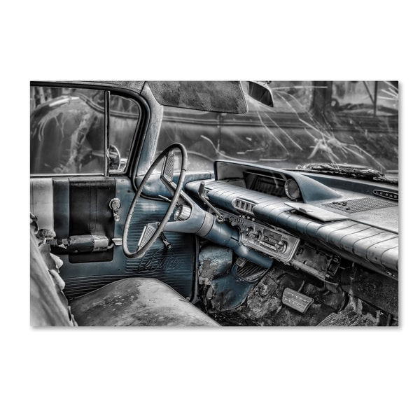 Bob Rouse '060 Buick Lesabre Interior Bw' Canvas Art