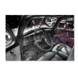 Bob Rouse '038 Chevy Sedan Interior Bw' Canvas Art