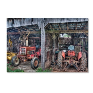 Bob Rouse 'Two Red Tractors' Canvas Art