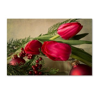 Bob Rouse 'Holiday Red' Canvas Art
