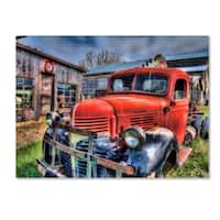 Bob Rouse 'Red Dodge 2' Canvas Art