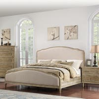 Emerald Home Interlude Sandstone Upholstered Bed Set