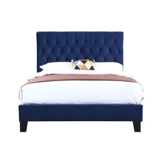 Emerald Home Amelia Navy Blue Twin Tufted Upholstered Bed