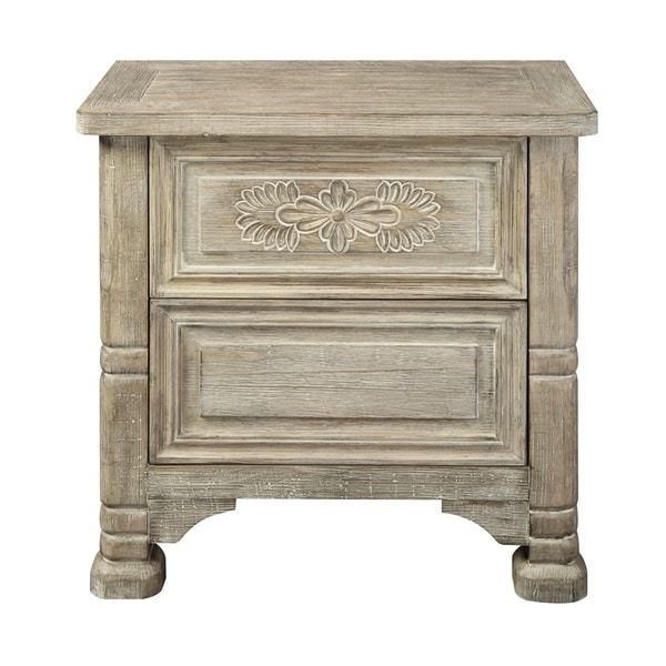 Shop Taos Wisp White Nightstand With Distressed, Rustic