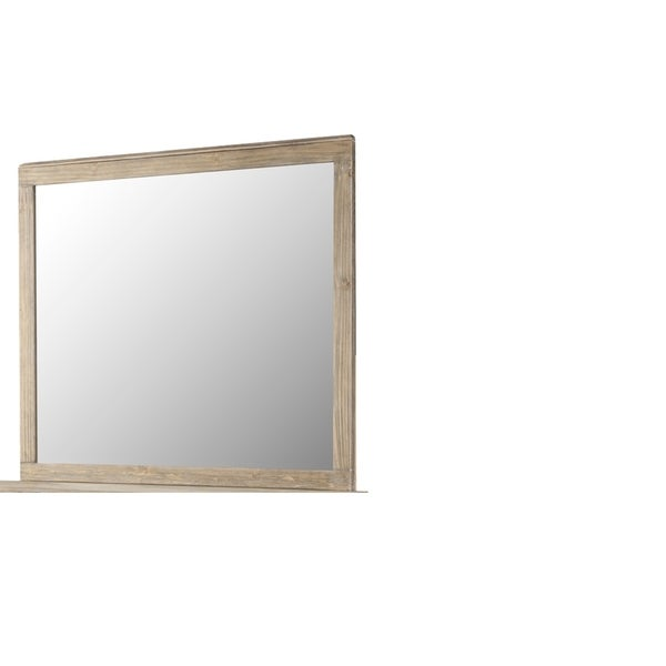 The Gray Barn Fox Hollow Weathered Brown Mirror with Durable Finish