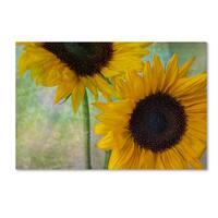 Bob Rouse 'Big Sunflowers' Canvas Art