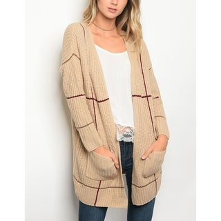 JED Women's Thick Knit Oversized Cardigan Sweater