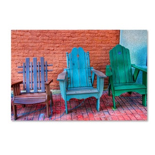 Bob Rouse 'three chairs' Canvas Art