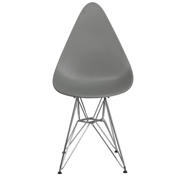 Tremendous Shop Allegra Series Teardrop Plastic Chair With Chrome Base Creativecarmelina Interior Chair Design Creativecarmelinacom
