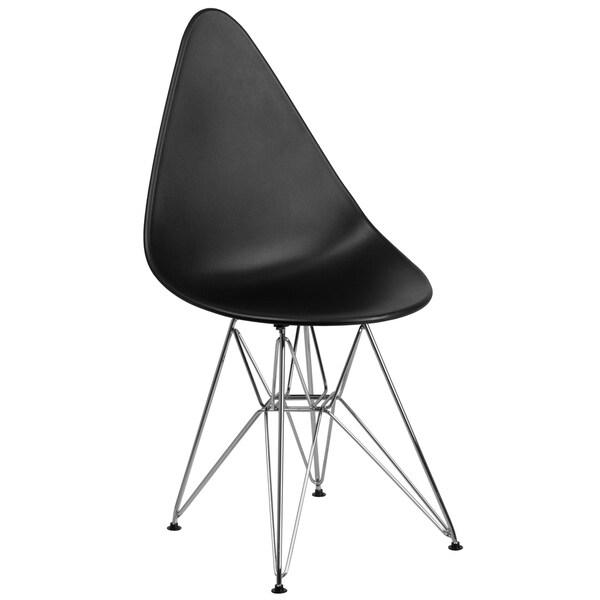 Allegra Series Teardrop Plastic Chair with Chrome Base
