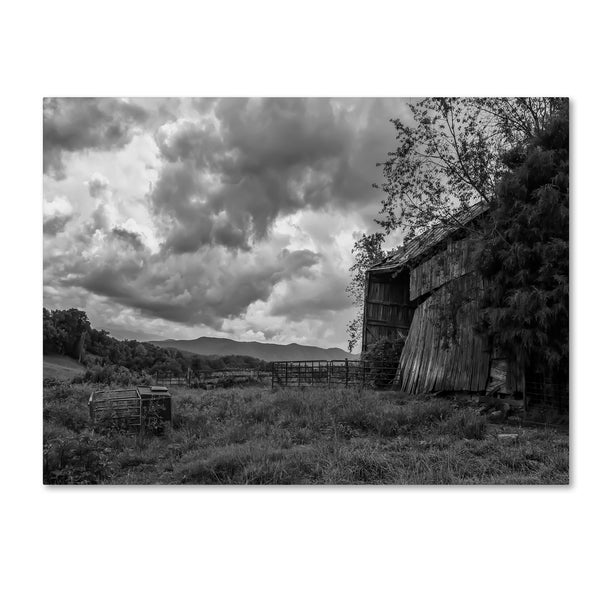 Bob Rouse 'mayberry barn2BW' Canvas Art