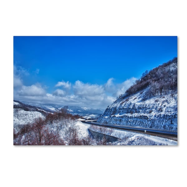 Bob Rouse 'interstate view' Canvas Art