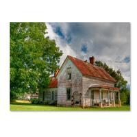 Bob Rouse 'horse creek farmhouse' Canvas Art