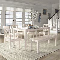 Wilmington II 60-Inch Rectangular Antique White Dining Set by iNSPIRE Q Classic