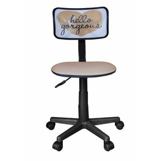Urban Shop Rolling Mesh Chair with Text