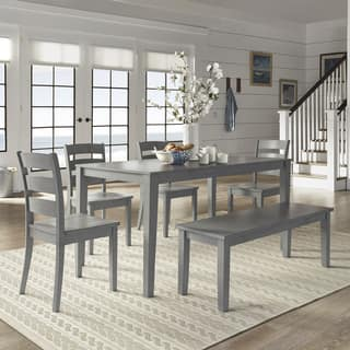 Wilmington II 60-Inch Rectangular Antique Grey Dining Set by iNSPIRE Q Classic https://ak1.ostkcdn.com/images/products/18048899/P24213608.jpg?impolicy=medium