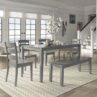 Wilmington Ii 60 Inch Rectangular Antique Grey Dining Set By Inspire Q Clic