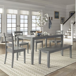 wilmington ii 60inch rectangular antique grey dining set by inspire q classic