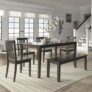 wilmington ii 60 inch rectangular antique black dining set by inspire q classic - Black Dining Room Table