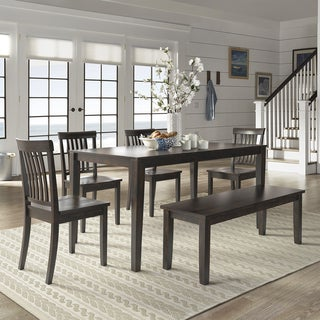 Wilmington II 60 Inch Rectangular Antique Black Dining Set By INSPIRE Q  Classic