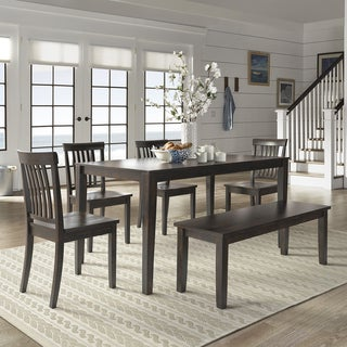 Wilmington II 60-Inch Rectangular Antique Black Dining Set by iNSPIRE Q Classic