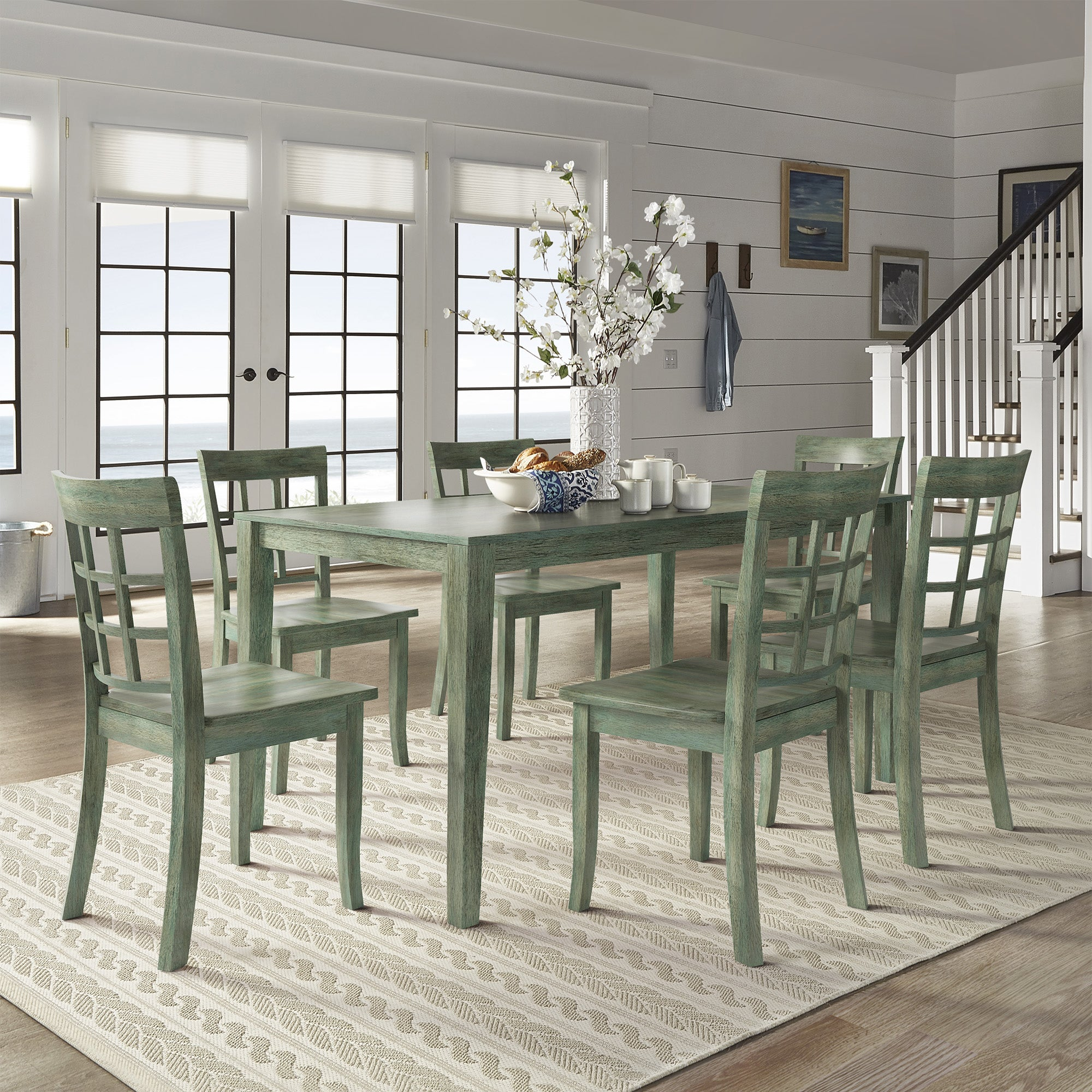 Wilmington Ii 60 Inch Rectangular Antique Sage Green Dining Set By Inspire Q Classic On Sale Overstock 18048901