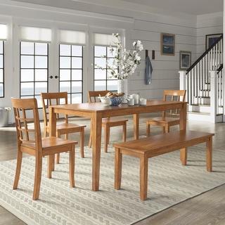 Wilmington II 60-Inch Rectangular Oak Finish Dining Set by iNSPIRE Q Classic
