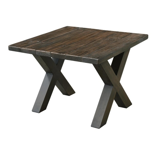 Metropolitan Fiber Glass Reinforced Concrete Top Outdoor End Table