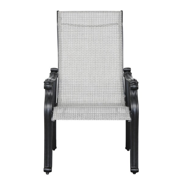 Shop Versailles Onyx Outdoor Sling Chair Set Of 2 Free Shipping