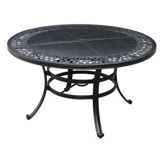 Emerald Home Versailles Outdoor Onyx 54-Inch Round Umbrella Table