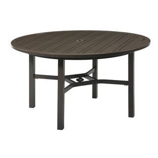 Emerald Home Chatham II Outdoor Cappuchino Round Umbrella Table