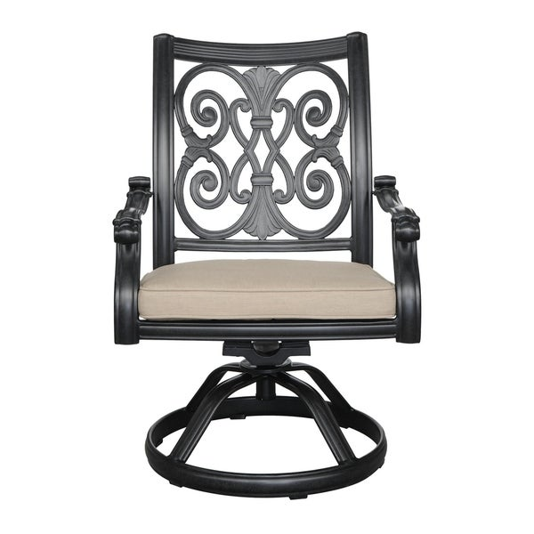 Emerald Home Versailles Onyx Outdoor Swivel Rocker Chair (Set Of 2)