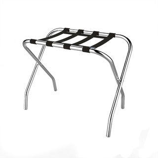 Chrome Folding Luggage Rack and Suitcase Stand