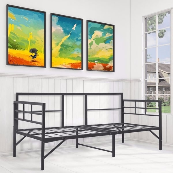 Daybed - Easy Setup, Sturdy and Durable Steel Slats - Crown Comfort