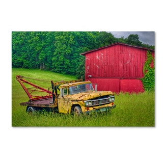 Bob Rouse 'Truck in Weeds' Canvas Art