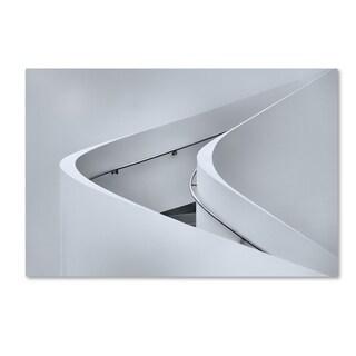 Jeroen Van De 'The Curved Stairs' Canvas Art