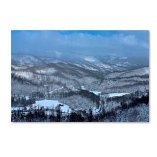 Bob Rouse 'Mountain View' Canvas Art