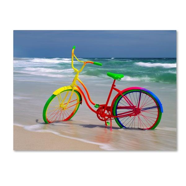 Mike Jones Photo 'Rainbow Bike' Canvas Art