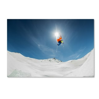 Eric Verbiest 'Backcountry Kicker Locals Only' Canvas Art