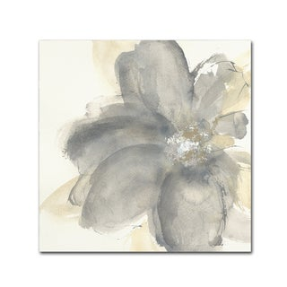 Chris Paschke 'Floral Gray I' Canvas Art