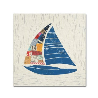 Courtney Prahl 'Nautical Collage IV on Linen' Canvas Art