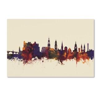 Michael Tompsett 'Heidelberg Germany Skyline V' Canvas Art